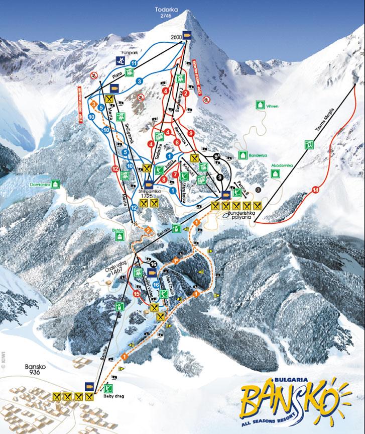 Banskoski Ski map